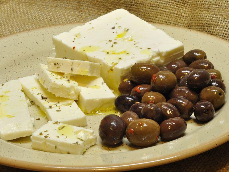Feta e olive greche