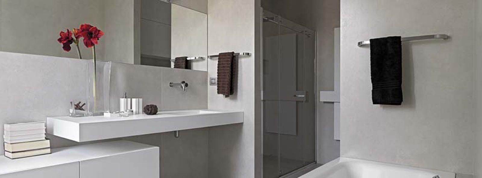 Come progettare un bagno senza piastrelle