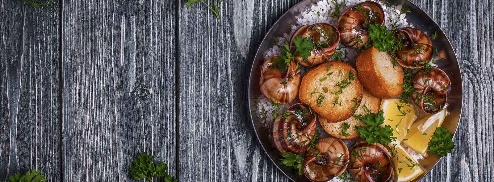 Chiocciole fritte e calorie dei gasteropodi