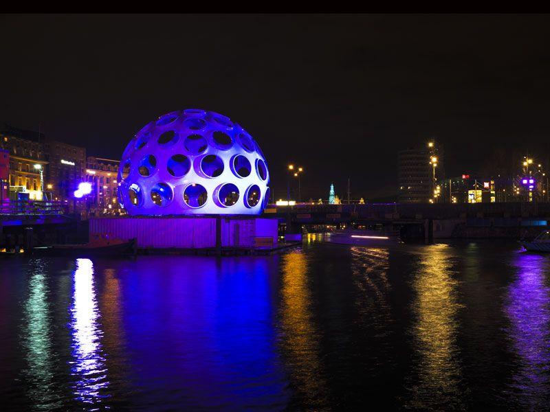 Percorso festival delle luci Amsterdam