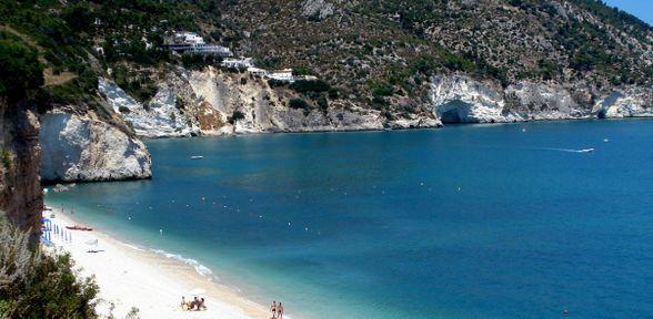La spiaggia di Mattinatella al Gargano